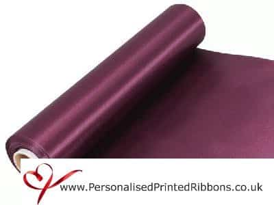 Burgundy Claret Extra Wide Satin Ribbon 290mm -  20 metre Roll