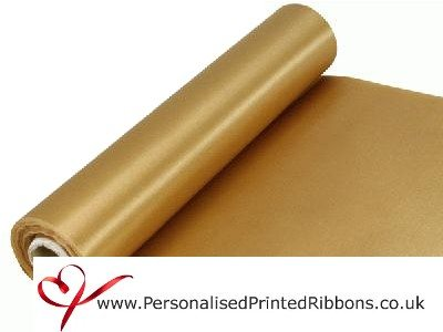 Gold Extra Wide Satin Ribbon 290mm -  20 metre Roll