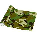 Camo printed wrapping paper 1.5m (5ft) long x 76cm (30'') wide