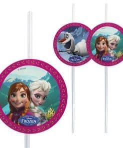 Disney Frozen Plastic Drinking Straws