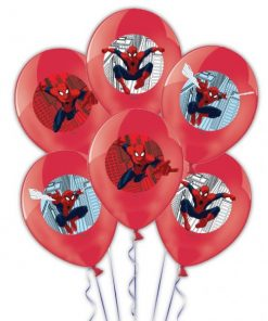 Spider-Man 4 Colours Printed Latex Balloon