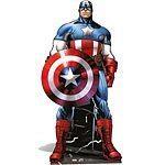 Avengers Captain America Lifesize Cardboard Cutut 195cm Tall