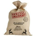 Christmas Hessian Santa Sack