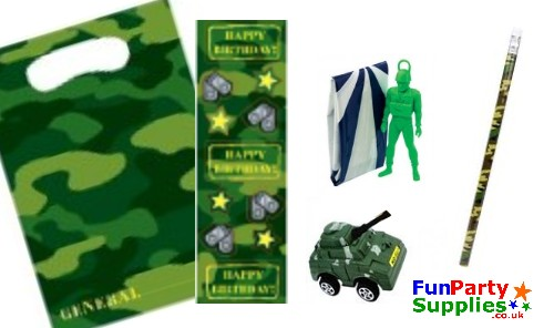 Army Camouflage Filled Party Bag