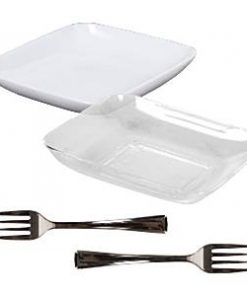 Clear Plastic Appetiser Set