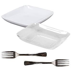 Clear Plastic Appetiser Set
