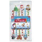 Christmas Novelty Pencils with Eraser Tops pk 12