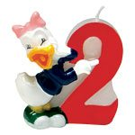 Daisy Duck 2nd Birthday Candle