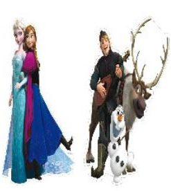 Disney Frozen Cutouts 30cm high x 2