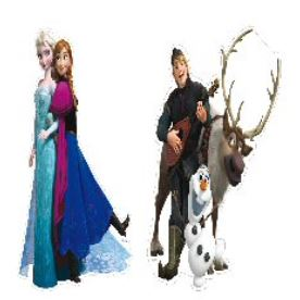 Disney Frozen Cutouts 30cm high x 2