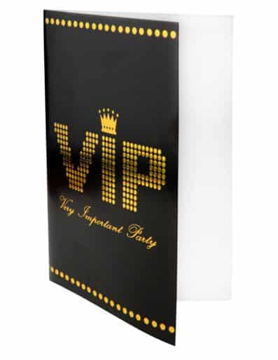 VIP Party Invites Pack of 10