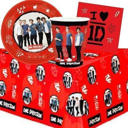 One Direction Party Themed Party Pack for 8