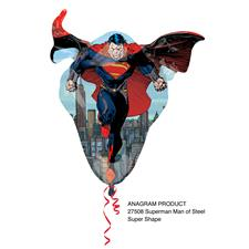 "Superman Party Man of Steel Supershape Foil Balloon 31"" Tall"