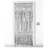 Silver Shimmer Door Curtain