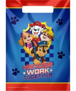 Paw Patrol Party Plastic Loot Bags