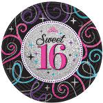 Sweet 16th Paper Plates Pk 8