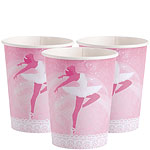 Ballerina themed paper cups