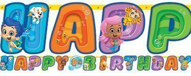 Bubble Guppies Party Birthday Age Banner - 3.2m Long