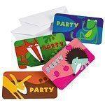 Animals Party Invitations Pk 8