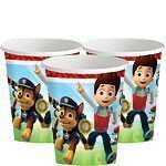 Paw Patrol Party Paper Cups - 255ml Pk 8