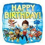 Paw Patrol Party Happy Birthday Foil Balloon 18""
