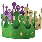 Mardi Gras Masquerade Party  Party Hat Crowns - Card Pk 12