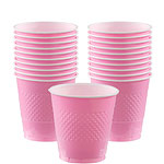 Pale Pink plastic Cups, pack of 20, 355mls