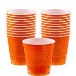 Orange Plastic Cups Pk 20