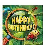Bug Eyed Happy Birthday Paper Napkins - Pk of 16