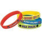 Avengers Assemble Party Wristbands Pk 4
