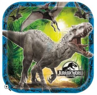 Jurassic Park Paper Party Plates Pk 8
