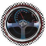 Racing Party Metallic Paper Plates - 23cm Pack of 8