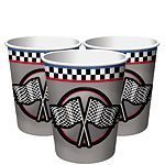Racing Party Metallic Paper Cups 255mls Pack of 8