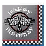 Racing Party Paper Happy Birthday Napkins Pack of 16