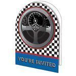 Racing Party Invites Pk 8