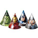 Avengers Multi Heroes Party Cone Hats Pk 6