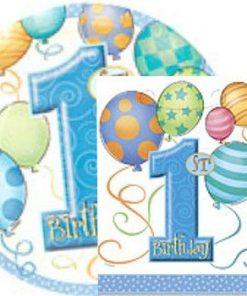 1st Birthday Blue Balloons