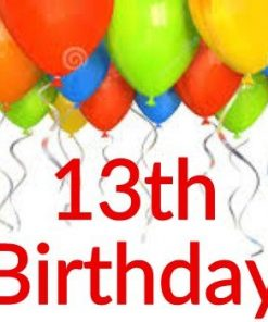 13th Birthday Themes
