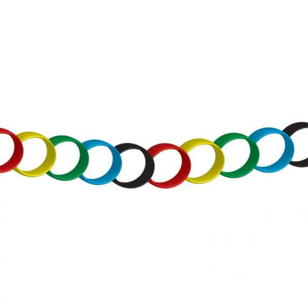 Rainbow Paper Chain Decoration