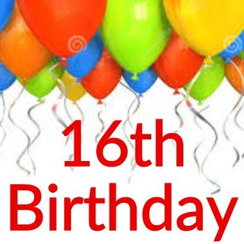 16th Birthday Themes