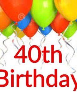 40th Birthday Themes