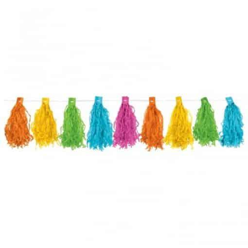 Multi Coloured Tassel Garland Decoration