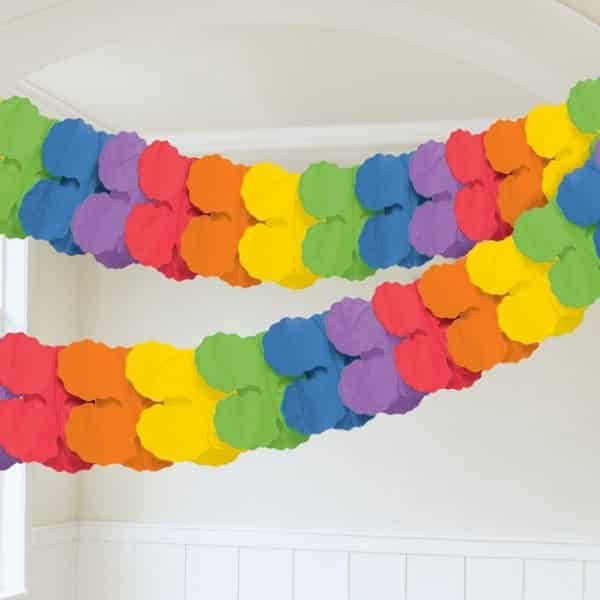 Rainbow Paper Garland Decoration