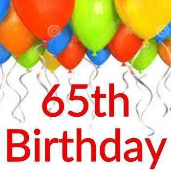 65th Birthday Themes