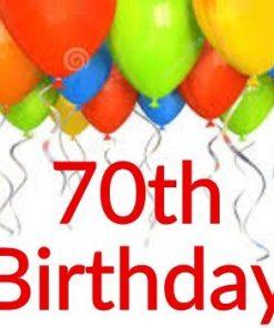 70th Birthday Themes