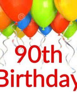 90th Birthday Themes