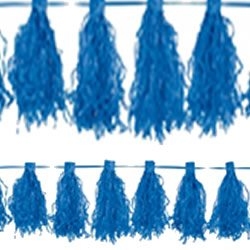 Blue Tassel Decorations