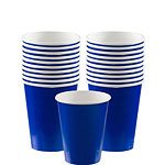 Bright Blue Paper Cups