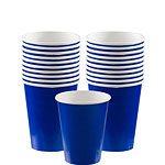 Bright Blue Paper Cups