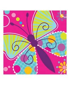 Butterfly Sparkle Party Beverage Napkins